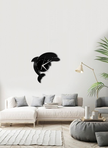 Angemiel Home Duvar Saati Siyah